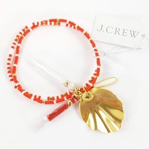 NWT! J. Crew Bracelet Beads Leaf Tassels Droplets